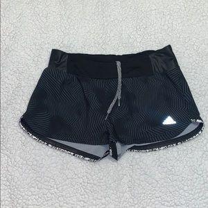 Adidas black shorts with design